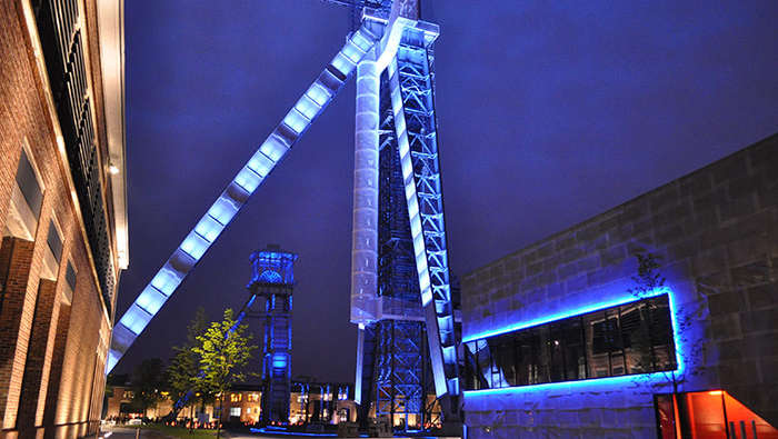 Philips light up C-mine making it an outstanding landmark