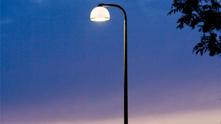 Philips outdoor LED lighting for streets at Holbaek, Denmark