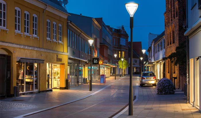 City center Naestved Denmark