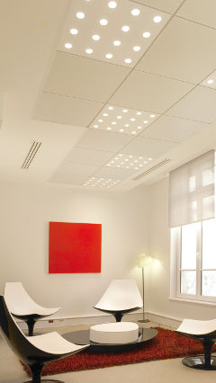 Break out area at Generali building, France, lit by Philips