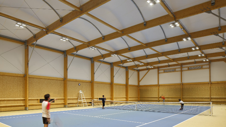 Indoor tennis court lighting - LED indoor flood lights