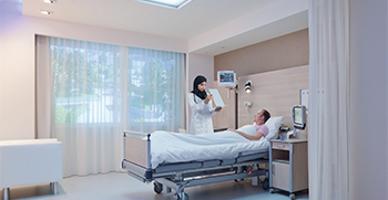hospital lighting, patient room lights, healtchcare lighting, healwell
