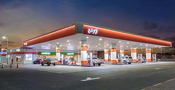 Petrol stations, canopy lighting,