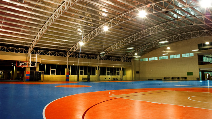 Multipurpose sports hall lighting - Philips flood lighting